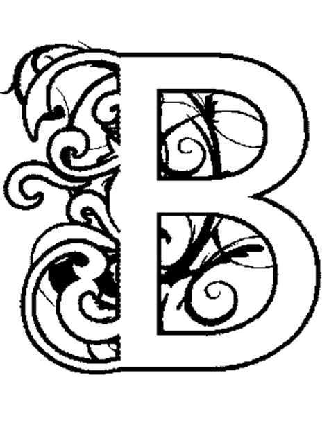 coloring pages illuminated letters illuminated b coloring page