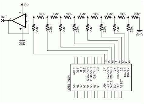 resistor network adc collin s lab digital to analog converter make