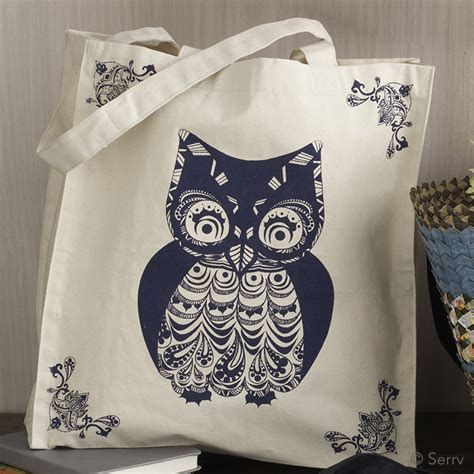 Totte Bag Kanvas Owl Tas Kanvas Totte Burung Hantu 1 1 tote bags owl canvas tote