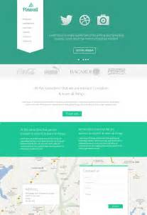 wesite templates pinwall modern website template psd freebie no 103