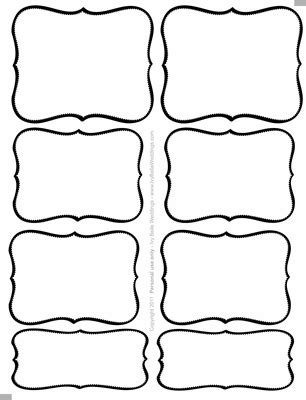 free editable favor tags free candy buffet labels