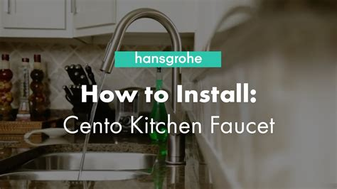how to install a single hole kitchen faucet with sprayer hansgrohe cento single hole kitchen faucet installation