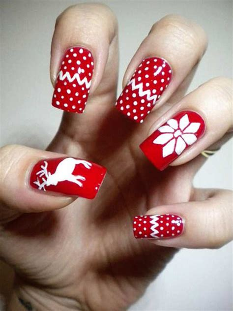 christmas pattern nails 16 gorgeous and easy nail art ideas for christmas