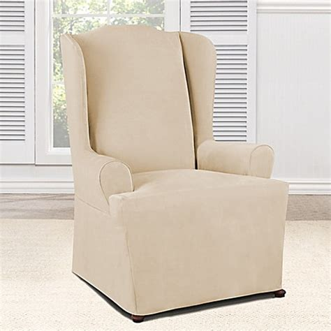 everyday slipcovers buy sure fit 174 everyday chenille 1 piece wing chair