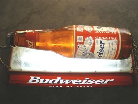 Budweiser Pool Table Lights by Vintage Budweiser Iced Bottle Pool Table Light Ebay