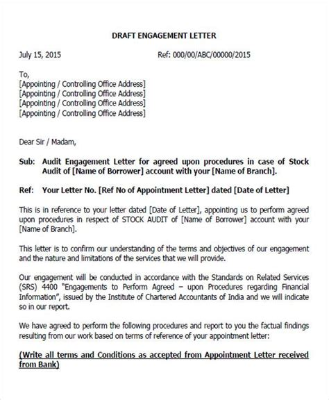 appointment letter sle of auditor appointment letter format of auditor 28 images 28
