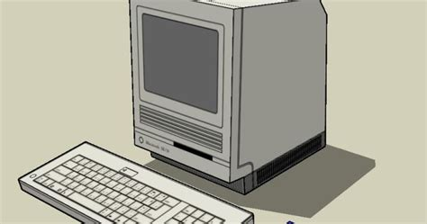 Laptop Apple Replika papermau macintosh se 30 personal computer paper model