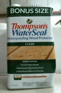thompsons water seal waterproofing wood protector clear