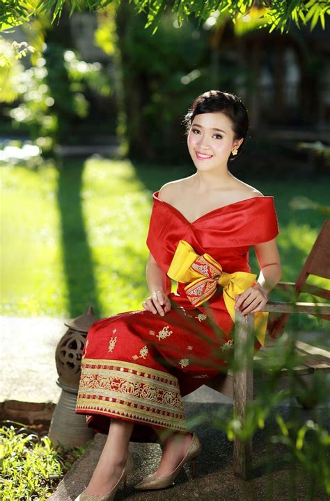 Dress Thaigirl 298 best lao sinh couture collection images on laos wedding thai dress and asian