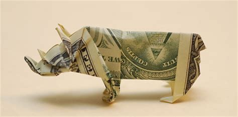 Origami With Dollars - creative dollar bill origami