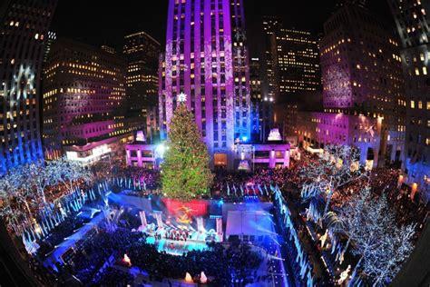 new york city photos christmas decorations around the