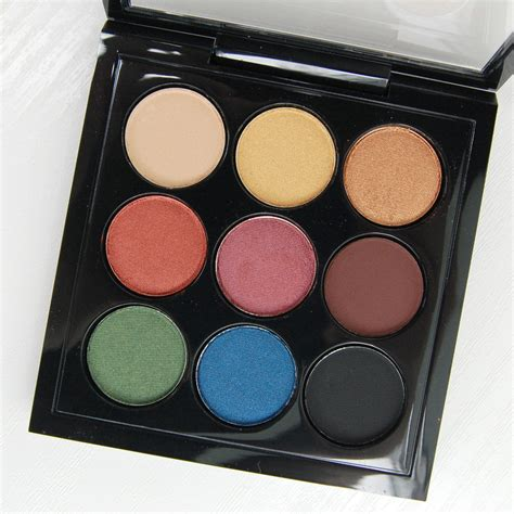 light blue eyeshadow palette mac cosmetics diwali light festival eyeshadow x 9 palette