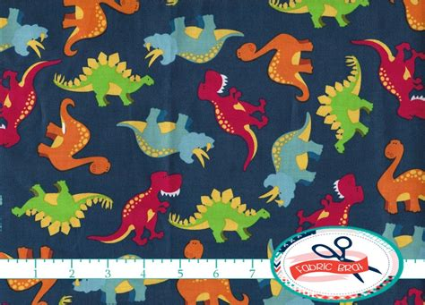 dinosaur fabric by the yard quarter dino fabric by
