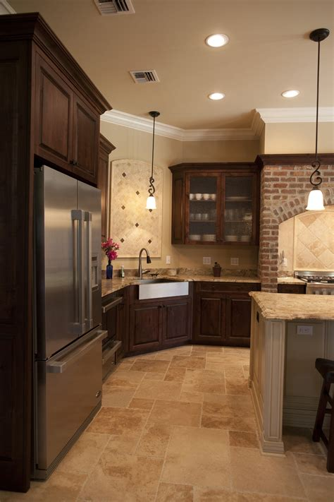 kitchen floor cabinet dark kitchen cabinets and tile floors quicua com