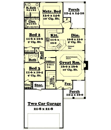 Traditional Style House Plans 1500 Square Foot Home 1 1500 Sq Ft House Plans Single Story