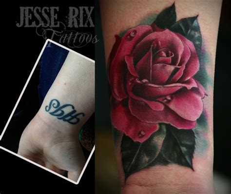 rose tattoo cover up by jesserix on deviantart