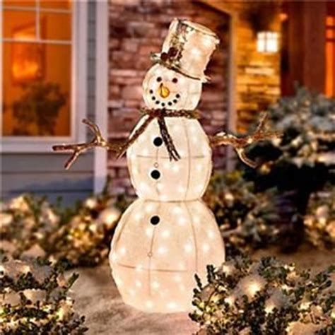 4 foot outdoor lighted christmas snowman holiday yard art