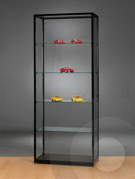 display cabinets for retail stores black retail display cabinet with glass top 800mm