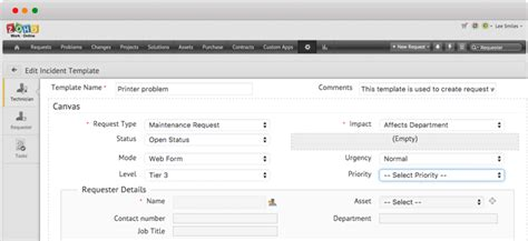Help Desk Associate Custom Request Forms Help Desk Software Manageengine