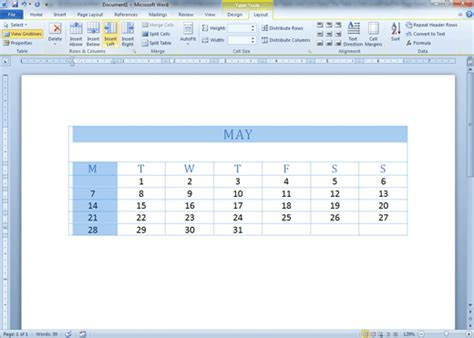 table layout tab word comma training page 62