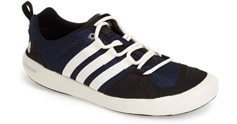 adidas originals climacool boat lace water shoe in blue for lyst