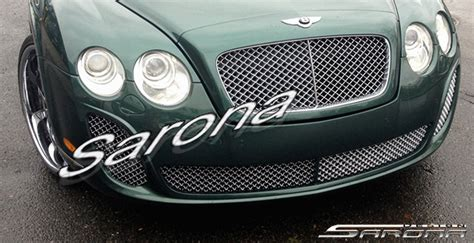 Front Grille Cover Bentley Chrome With Bumper Black Nissan March custom bentley gt coupe front bumper 2004 2010 1790 00 part bt 001 fb