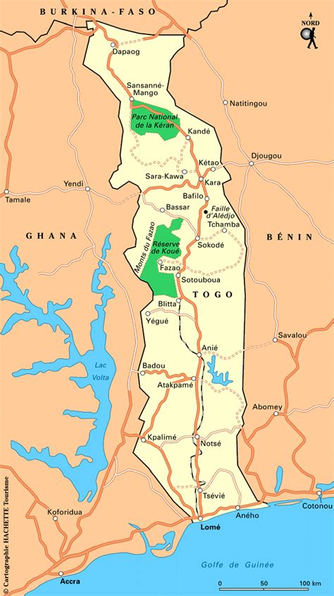 political map of togo togo map and togo satellite images
