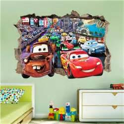 disney cars home decor disney cars smashed wall sticker bedroom art kids tv