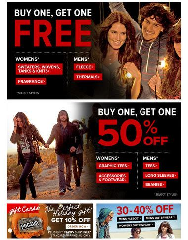 pacsun printable gift cards pacsun 10 off all gift card purchases al com