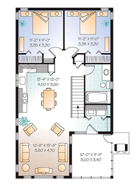Second Floor Plan of Traditional Garage Plan 65215 plenty