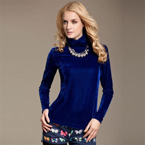 Alycia Comfy Longsleeve Blouse soft comfortable sleeve velour tshirt slimming sheath t shirt tops free shipping