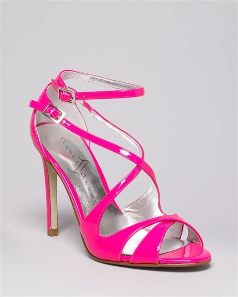 ivanka high heels ivanka helice high heel strappy sandals in pink lyst