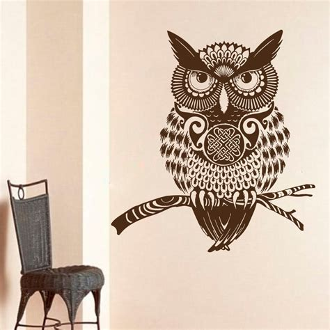 owl decor aliexpress com buy high quality brown owl wall decal