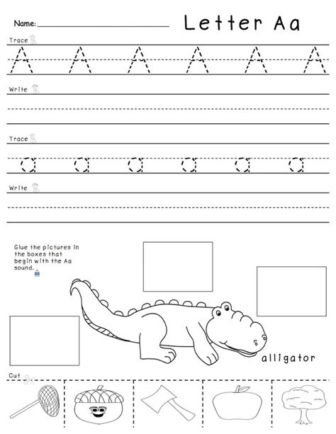 a z tracing writing and beginning sounds practice