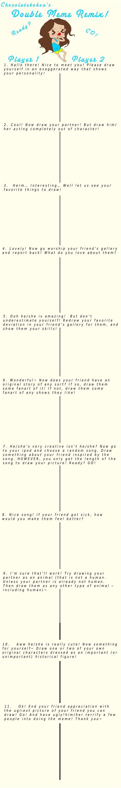 Double Meme - chocolatekokoa s double meme remix blank by implis on