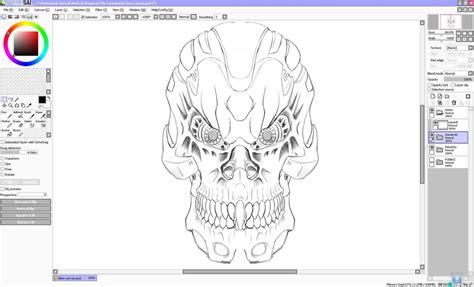 sketchbook pro or paint tool sai my terminator sketch paint tool sai testing by