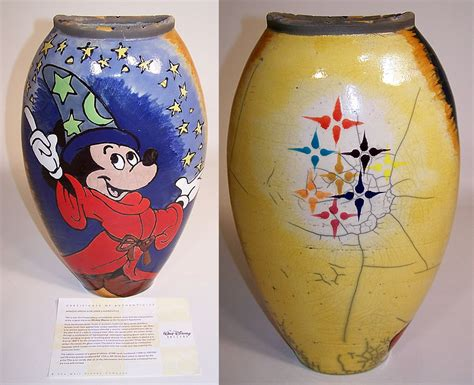 Disney Vase by Disney Mickey Mouse Sorcerers Apprentice Fantasia Amadio