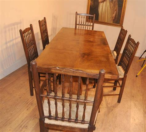 oak kitchen table and chairs set oak kitchen diner chair set refectory table and spindleback chairs