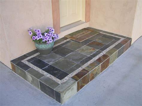 Concrete Porch Steps Concrete Floor flooring and carpeting porcelin tile concrete porch step grout joints curb appeal