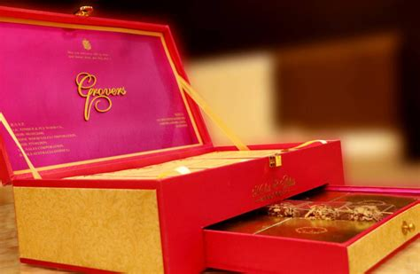 Wedding Box Design Modern Wedding Cards Designer Invitations New Delhi
