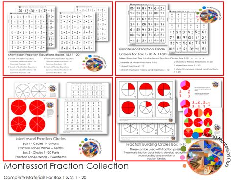 Montessori Fraction montessori early fractions fractions at home quot
