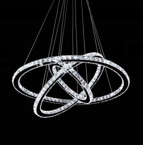 Led Ring Chandelier Modern Chrome Chandelier Ring Led Chandelier Stainless Steel Pendant L 100
