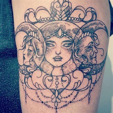 apothecary tattoo maiden crone trigoddess tattoos ink