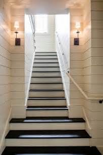 Narrow Stairs Design Shiplap Measurements The Walls Are Covered In A Paint Grade Pine Ship Siding With An 1 8