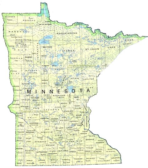 Minnesota Map   Outravelling Maps Guide