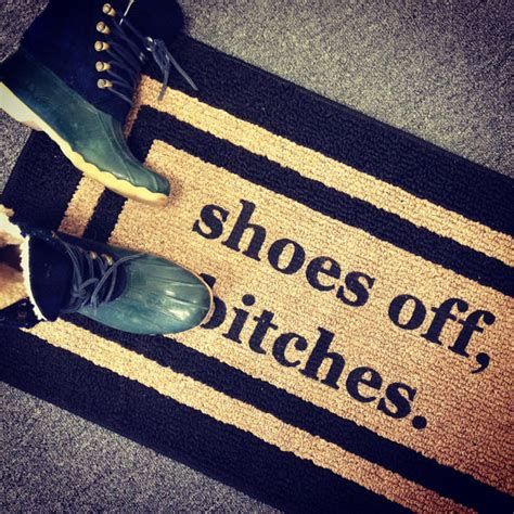 Take Your Shoes Mat by Shoes Bitches 174 Decorative Door Mat Area Rug