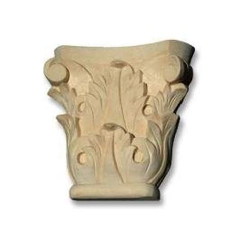 Corbel Capital Pin Wood Onlay Carved Open On