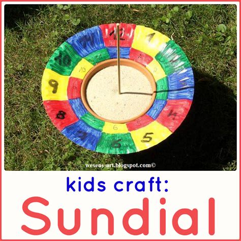 How To Make A Paper Sundial - wesens diy sonnenuhr diy sundial