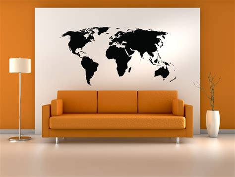 world map wall decal united states us map vinyl wall decal