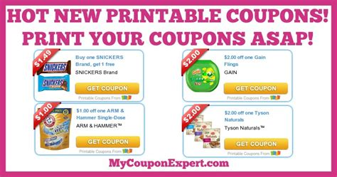 printable gain coupons hot new printable coupons gain snickers tyson arm